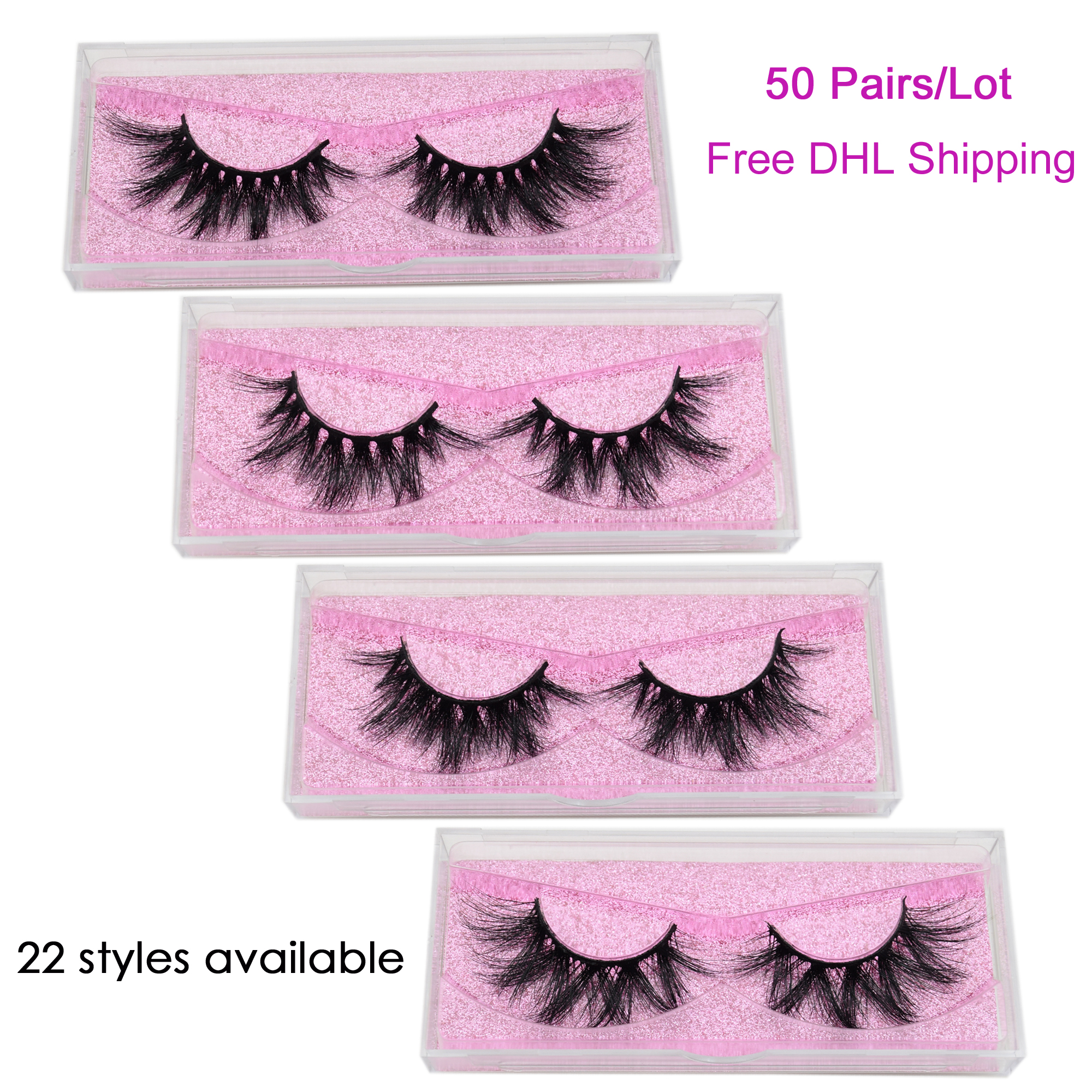 50 Pairs/lot Visofree Eyelashes 3d Mink Lashes Makeup Faux Cils Wholesale Mink Eyelashes Mink Lashes Bulk Thick Crisscross Lash