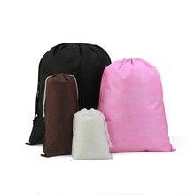 Non-сплетенные женская сумка для хранения для одежда обувь сумки шнурок сумки карман пылезащитный мешок нижнее белье организатор мешки drawstring