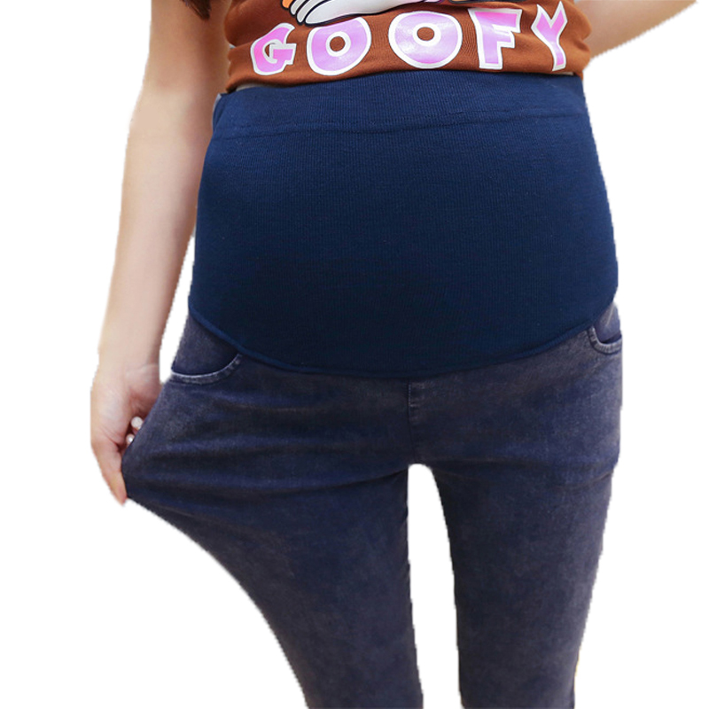 Abdominal Adjustable Maternity Clothes Pregnancy Pants Fashion Pregnant Jeans Elastic Denim Support Bell M-2XL Trousers