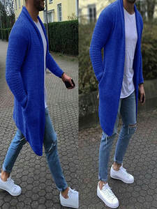 Wool Cardigan Jackets Sweaters Knitted Male Long Men's Autumn Spring Casual Thick Fashion