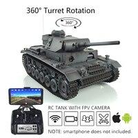 Heng lungo 1/16 grigio 6.0 aggiornato FPV Panzer III L RC serbatoio 3848 360 torretta TH16132-SMT4