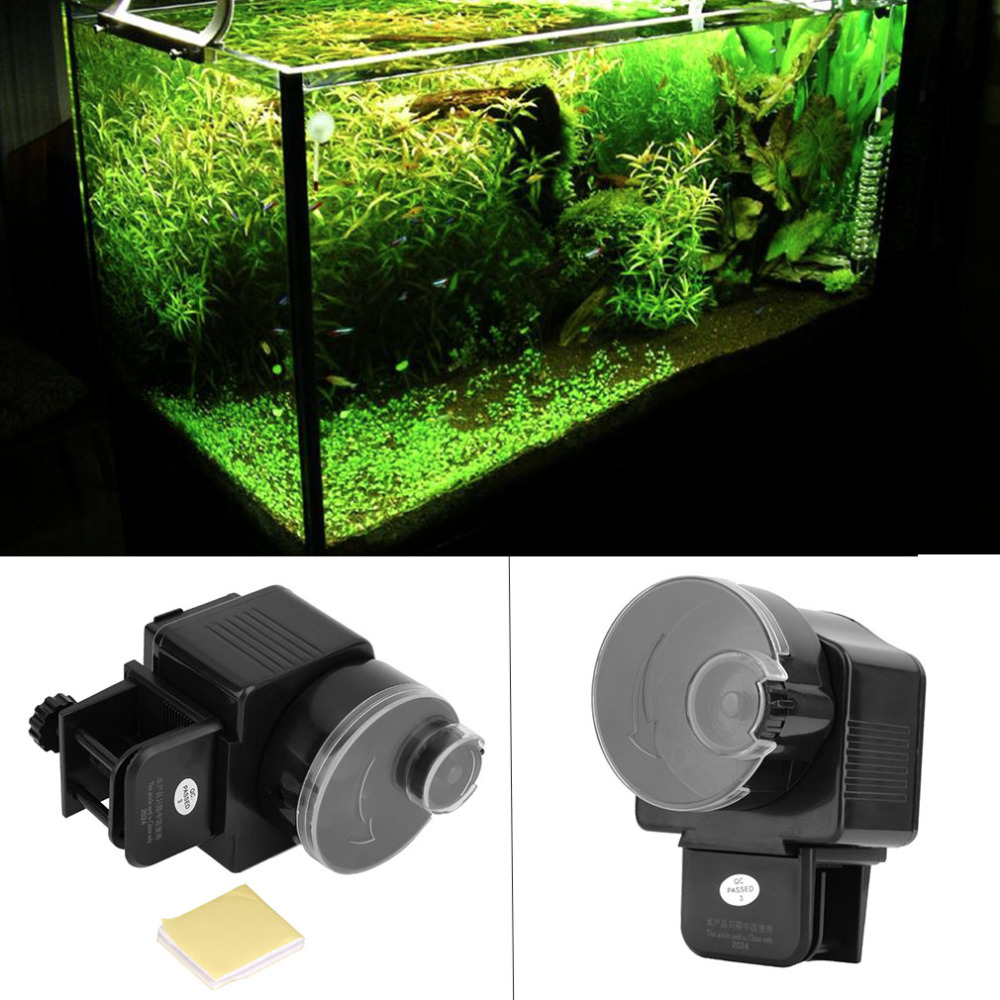 Digital LCD Automatic Aquarium Tank Auto Fish Feeder Timer Food Feeding Electronic Fish Food Feeder Timer Aquarium Accessory image