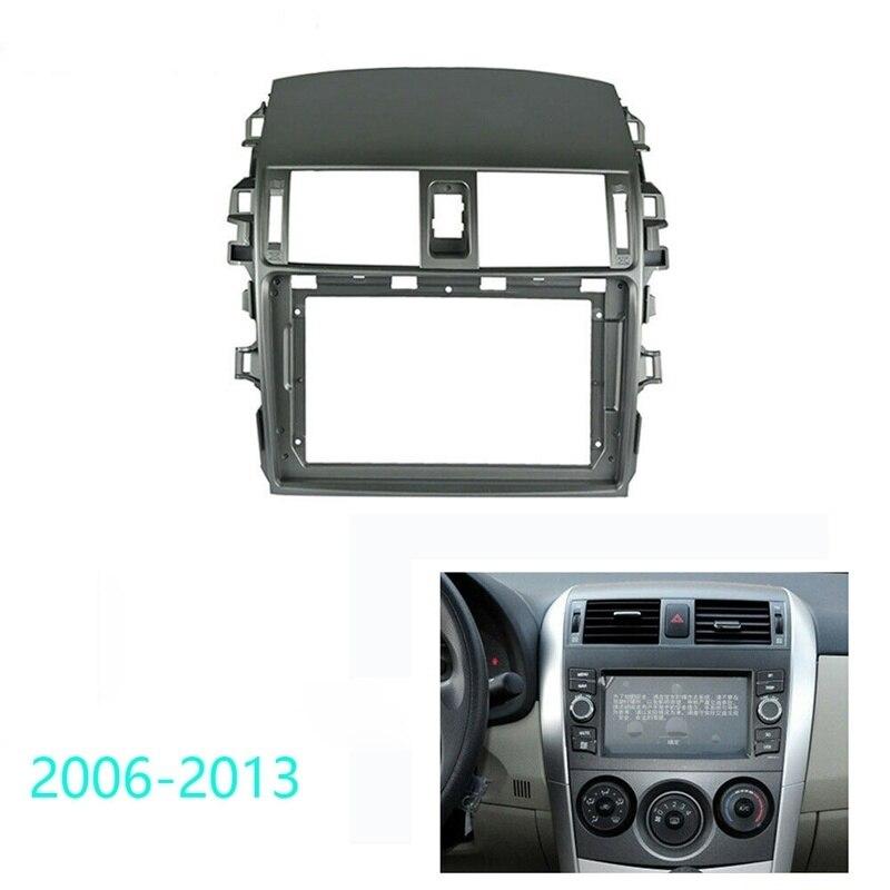 Car Radio Fascia Trim Kit, 9 Inch 2 Din Dash Panel DVD Frame Install Kit for Toyota Corolla 2006-2013