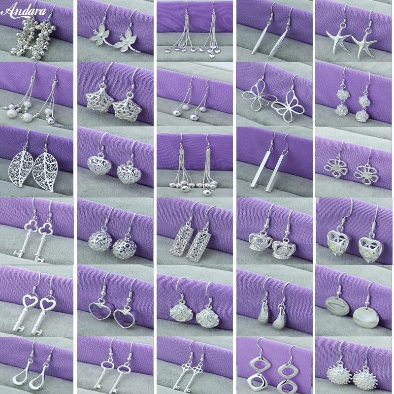Женские серьги-подвески в виде стрекозы, звезды, сердца, короны, ювелирное изделие из стерлингового серебра 925 пробы, для свадебной вечеринк...