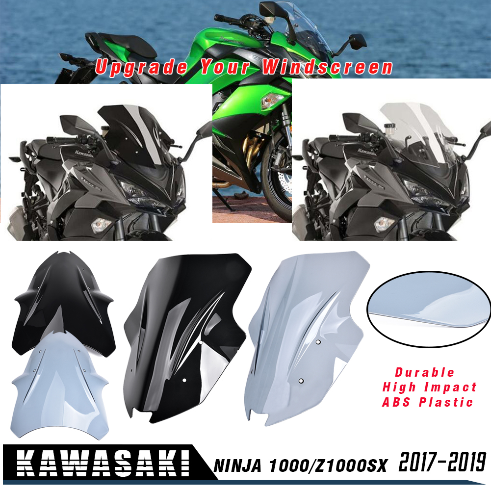 For KAWASAKI Ninja 1000 Z1000SX 2017 2018 2019  Windshield WindScreen Visor Viser Wind Deflector Ninja1000 Z 1000SX Accessories
