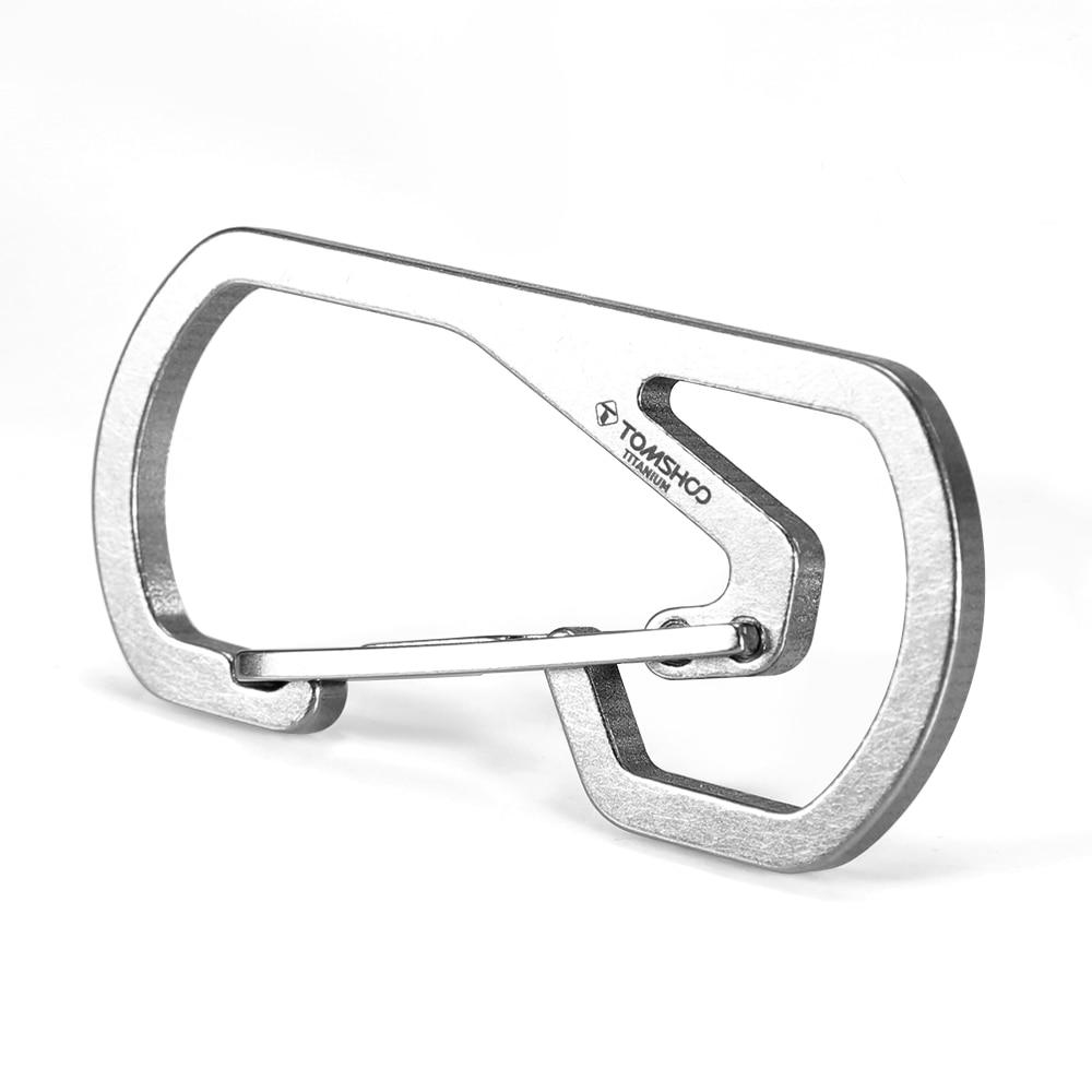Titanium Carabiner Key Chain Holder Ultralight Carabiner Camping Key Holder Climbing Equipment Outdoor Tools