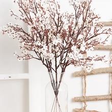 Long Bouquet Branch Gypsophila Artificial-Flowers Wedding-Decoration Babies Breath Autumn