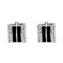 1pair New Brand Luxury Crystal Geometric Cuff Links and Tie Pin Men Flower Star Cufflinks Shirt Jewelry Wedding Christmas Gift