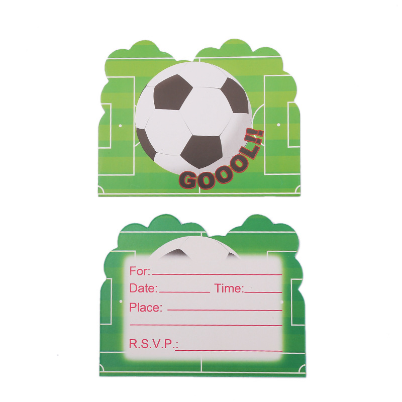 Football Card Box Kids Birthday Wedding Party Supplies Football Paper Invitation Card Wedding Party Card Supplies Gifts Bag