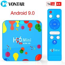 VONTAR 4GB 128GB H96 Mini Android 9.0 TV Box Allwinner H6 Quad Core 6K H.265 Wifi netflix youtube Set-top box H96mini 4GB32GB(China)