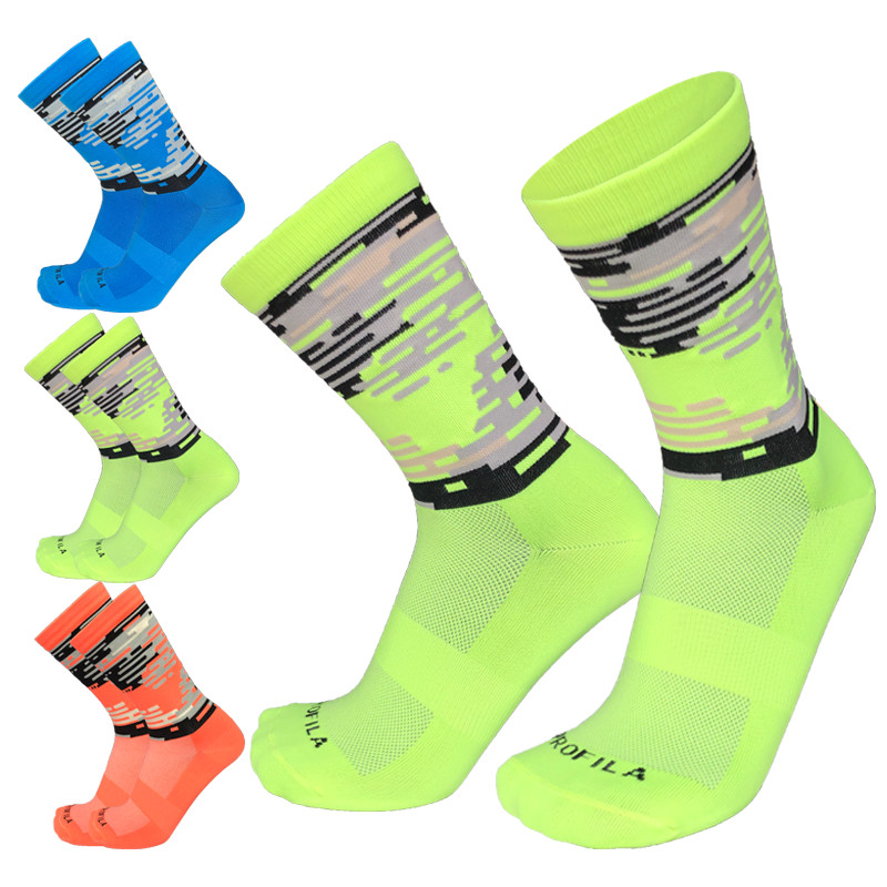 Autumn And Winter Compressed Camouflage Cycling Socks Sports Outdoor Climbing Running Bike Socks