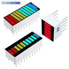 Display a barra a LED a 10 segmenti Display a LED rosso giallo verde blu Display a LED rosso a 5 segmenti modulo di visualizzazione della capacità della batteria a LED a 4 colori
