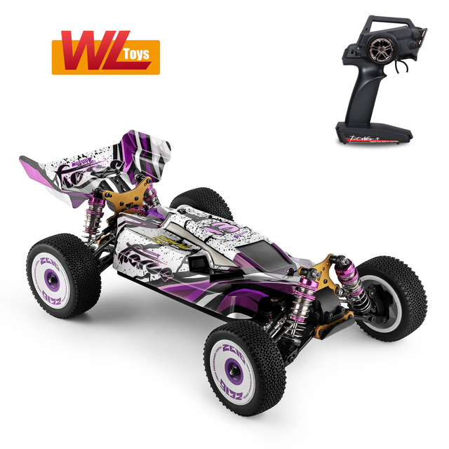 Wltoys 124019 High Speed Racing Car 60km/h 1/12 2.4GHz RC Car Off-Road Drift Car RTR 4WD Aluminum Alloy Chassis Zinc Alloy Gear 5