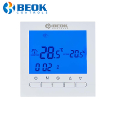 BOT 313W Programmable Battery Power Room Digital Thermostat for Gas Boiler Heating Temperature Control Wall Mounted Thermostat