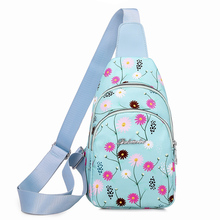 Handbag Chest-Bag Fabric Floral-Pattern Nylon High-Quality Fashion Women Flower-Print