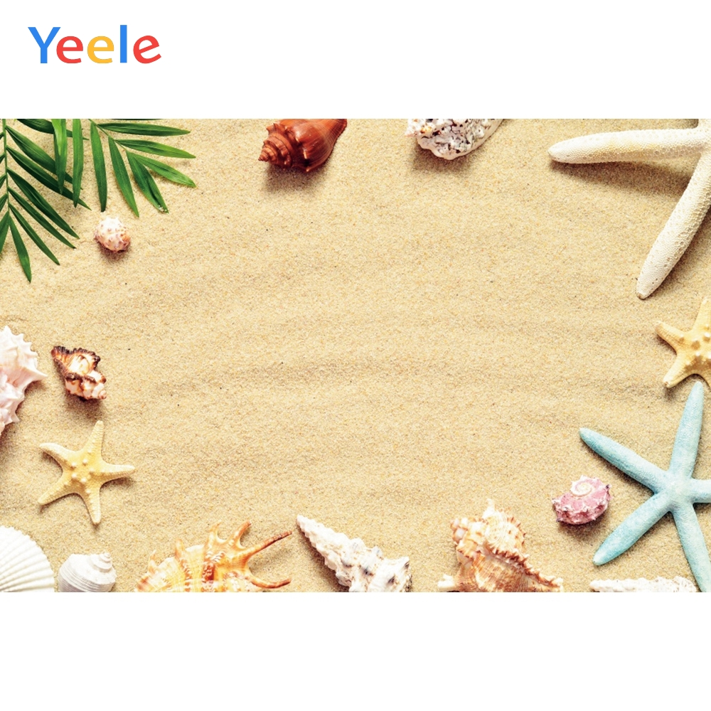 Yeele Vinyl Photophone Beach Starfish Tropical Summer Shell Photo Backgrounds Photo Backdrops Photocall For Photo Studio Props