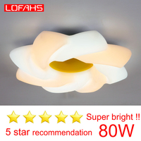 LOFAHS modern led ceiling light for living room bedroom kitchen High bright whirlwind ceiling lamp 80W lighting fixture