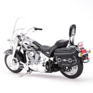 Image 3 - Maisto 1:18 2002 FLSTC miras Softail klasik kayma döküm araçları koleksiyon hobiler motosiklet Model oyuncaklar