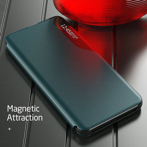 Image 5 - poko m 3 pro case smart side view window leather flip for xiaomi pocophone poco m3pro m3 pro 5g 2021 magnetic bracket book coque