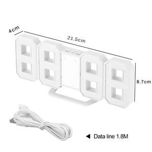 Image 5 - 3D 大型 Led デジタル壁時計日付時間摂氏常夜灯表示テーブルデスクトップ時計アラーム用のリビングルーム