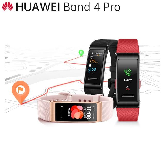 الأصلي هواوي باند 4 برو الذكية معصمه المدمج في تحديد المواقع تجريب التوجيه 24/7 ساعة معدل نبضات القلب متجر الوجه SpO2 الدم الأكسجين