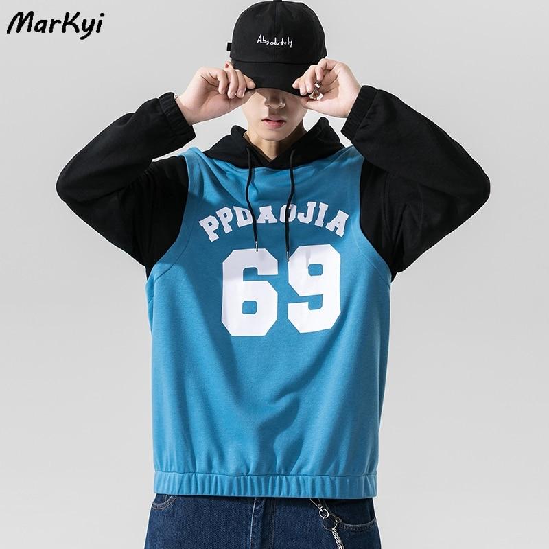 Худи markyi мужское с имитацией двух скейтбордов Свитшот в стиле