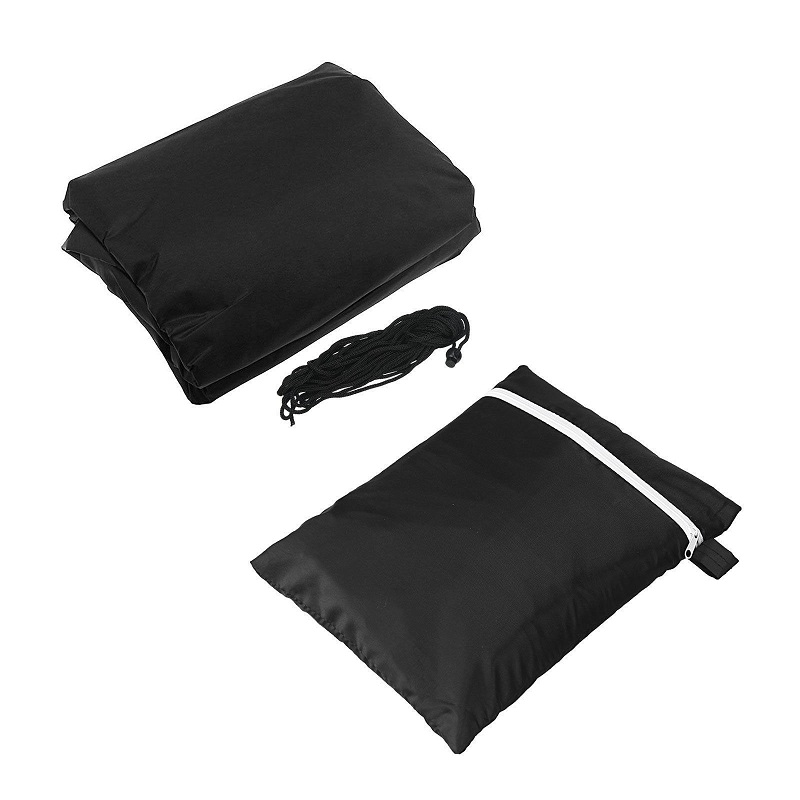 BBQ Cover Outdoor Dust Waterproof Weber Heavy Duty Grill Cover Rain Protective outdoor Barbecue cover round bbq grill black 4