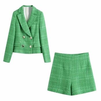 Womens Leisure-Style Blazer & Short