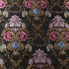 Tecido de borracha jacquard, enfeite em relevo flor vestuário cortina de sofá estofado tecido 145cm de largura por quintal