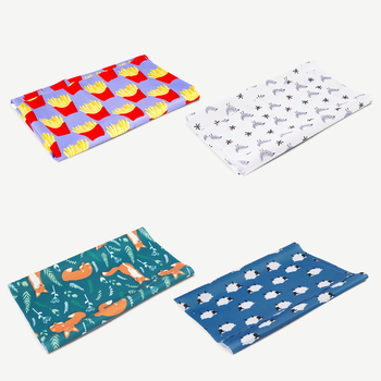 HappyFlute New Print 100% Polyester Reusable Wetbag Breathable PUL Fabric DIY Waterproof  Cloth Diaper Nappy For Baby