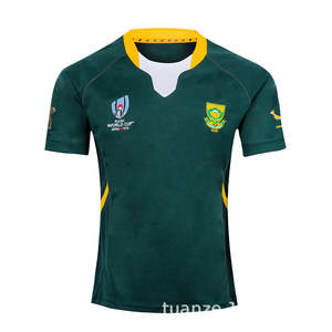 World Cup South Africa Home And Away Olive Jersey World Cup South Africa Rugby Jersey