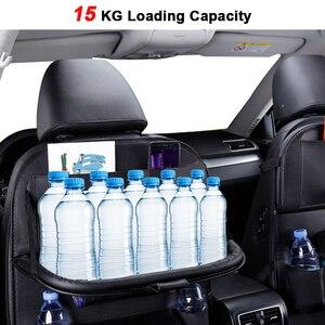 Image 3 - カーシートバックオーガナイザー収納袋旅行ホルダーカー用品ユニバーサルpuレザー自動車バックシートバッグプロテクターaccessoires