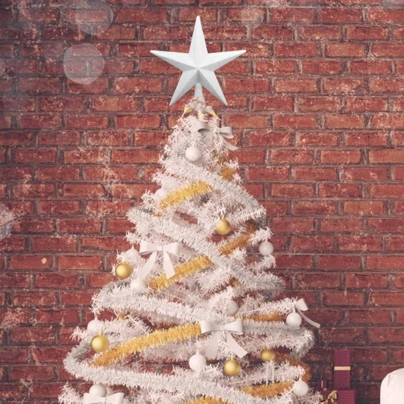 1pc 20cm Christmas Tree Star Topper Ornament Party House Xmas Decoration New