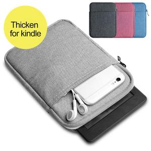 Fashion Zippered Sleeve Bag Case For 6 inch eBook tolino vision 4 HD Protective Cover eReader Bag with Wrist Band Dual Storage(China)