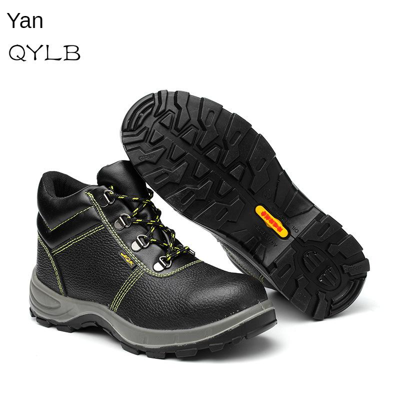 Anti-smashing And Anti-penetration Oil Resistant Acid-base Wear-Resistant Anti-slip Safety Shoes Hight-top Durable Work Shoes Sa