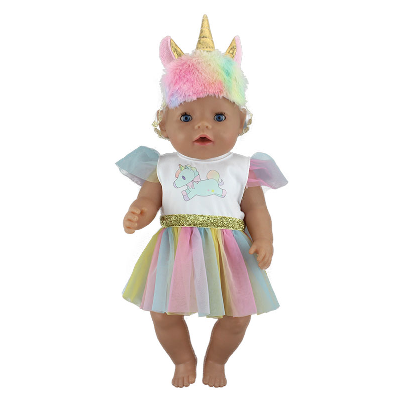 New Fashion Skirt For 43cm  Baby Doll Doll Reborn Baby Clothes 17inch Doll Accessories
