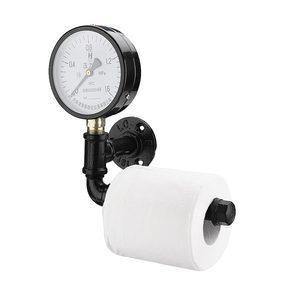 Image 3 - Porte rouleau papier toilette avec support pour téléphone étagère murale flottant support de tuyau deau articles ménagers industriels rustiques