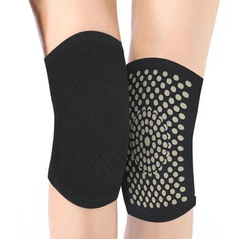 2PCS Self Heating Support Knee Pad Brace Warm for Arthritis Joint Pain Relief Injury Recovery Belt Massager Leg Warmer