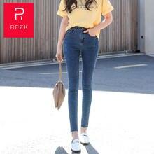Женские бархатные джинсы rfzk plus новинка 2020 осенне зимние