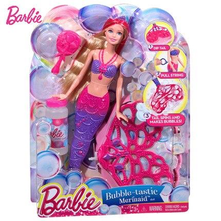 Original Barbie Brand Mermaid Doll Feature Rainbow Lights Doll The Girls Toys For Chilren A Birthday Present Gift Boneca