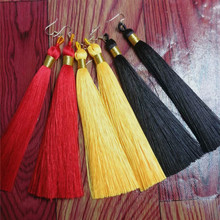 14 cm rayon tassel ice silk spike high-grade tassel DIY car hanging tassel accessories clothing accessories