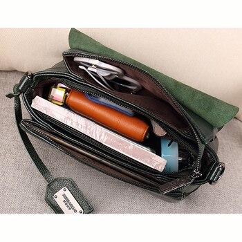 Shell Genuine Leather Crossbody Bag 4