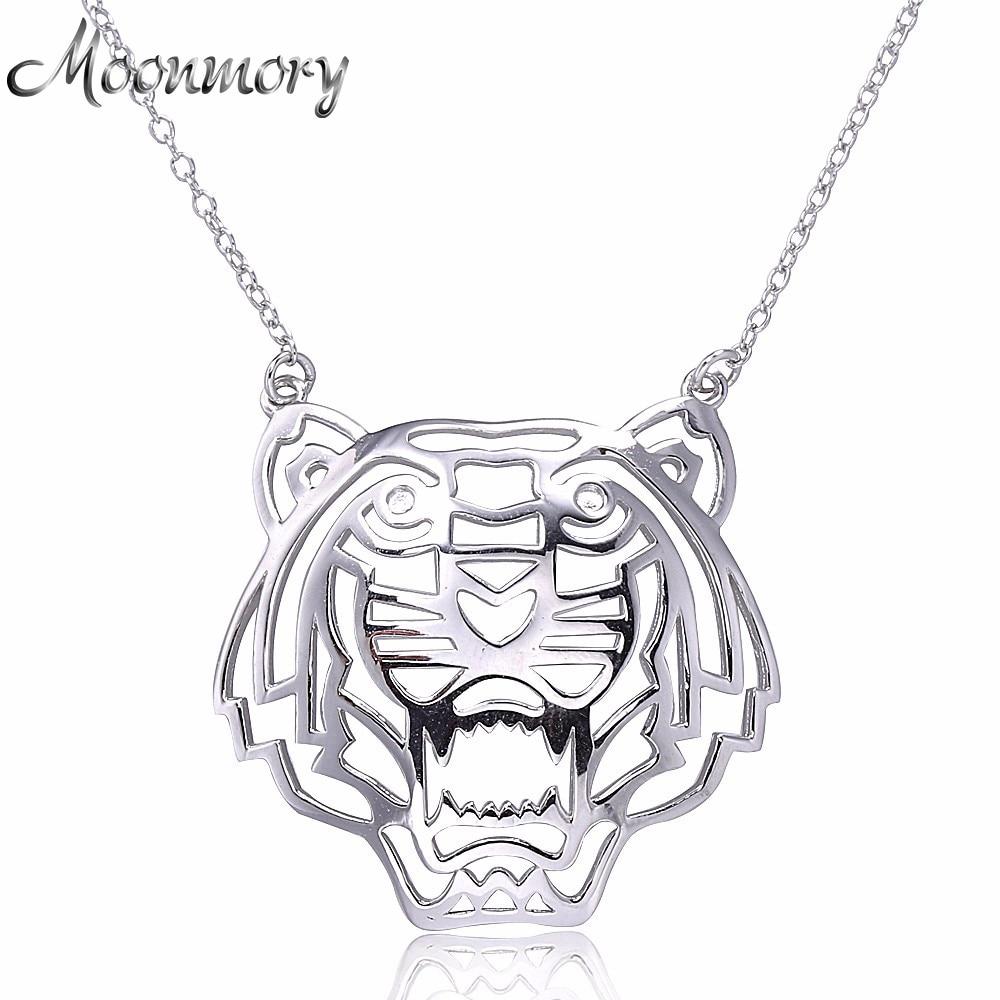 Moonmory Europe Популярні S925 стерлінгового срібла середній тигр у формі ланцюга кулон намисто, підвіска для тварин срібні аксесуари ювелірні вироби