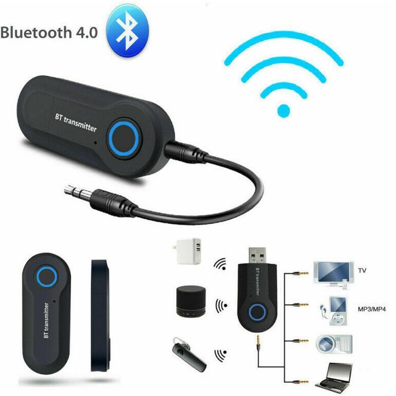 Bluetooth Transmitter 3.5MM Jack Audio Adapter Wireless Bluetooth 4.0 Stereo Audio Transmitter Adapter For Headphones TV