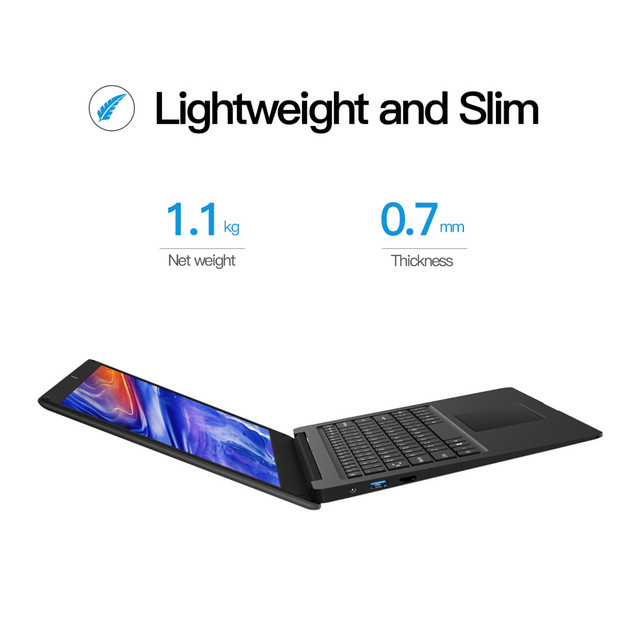 12.5 Inch N3350 Slim Small Mini Laptop 4G RAM 64G SSD Ultrabook Business Office Notebook Cool Black Netbook Portable PC Computer 3