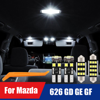 Top Quality Canbus LED Interior Reading Room Light Kit For Mazda 626 GD GE GF 1988-2002 Car Dome Auto indoor Map Roof Trunk Lamp image