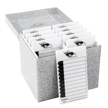 лучшая цена Eyelash Extension Storage Box 10 Layers Glitter False Eyelash Makeup Organizer Eyelashes Glue Display Holder Case Cosmetic Tool