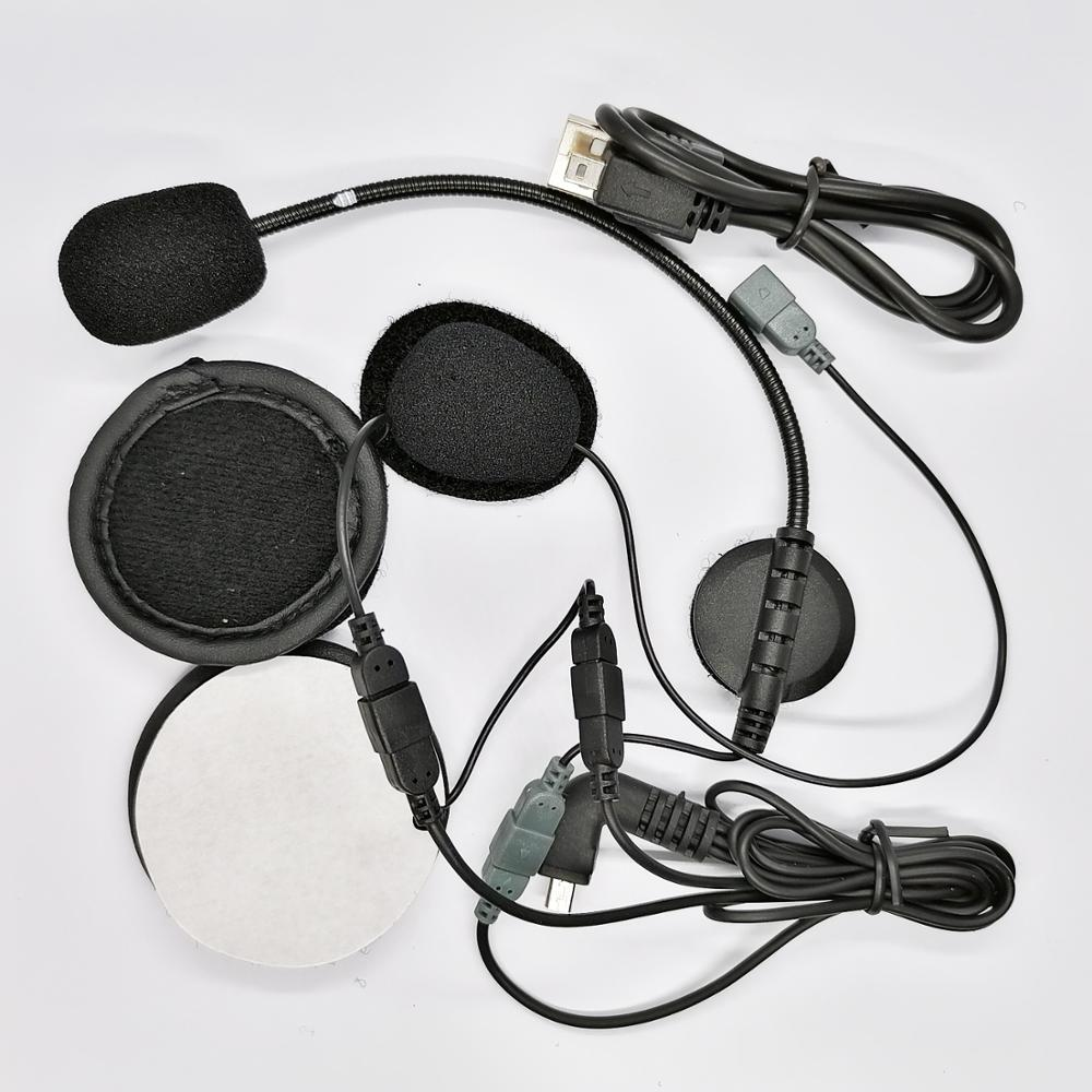 EJEAS E2 Helmet Heaset Kit With USB Charging Cable