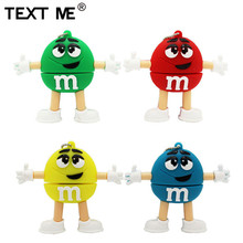 TEXT MIR 64GB rot rosa grün blau cartoon M M bean usb stick usb 2.0 4gb 8gb 16GB 32GB usb stick geschenk usb