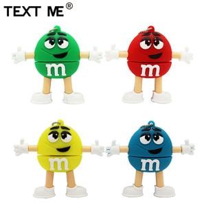 Image 1 - Usb флеш накопитель TEXT ME, 64 ГБ, красный, розовый, зеленый, синий, мультяшный M bean, usb 2,0, 4 ГБ, 8 ГБ, 16 ГБ, 32 ГБ, стандартный usb